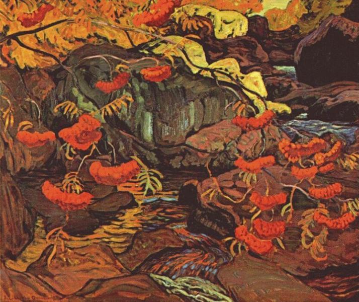 Rowanberries (Mountain Ash), Algoma, 1922 - J. E. H. MacDonald