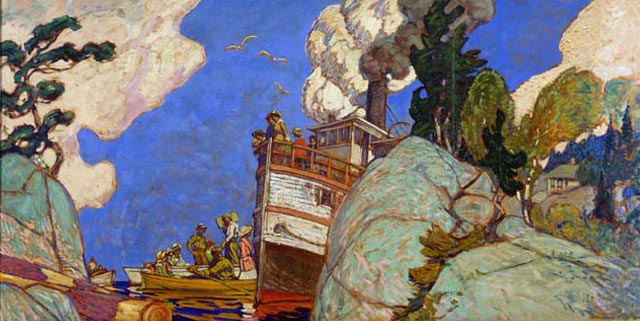 The Supply Boat, 1916 - J. E. H. MacDonald
