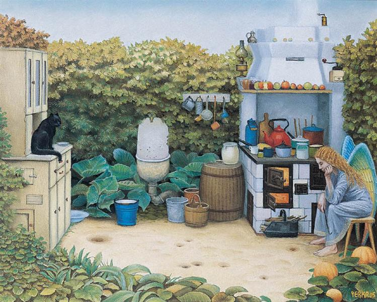 The Angels' Kitchen - Jacek Yerka