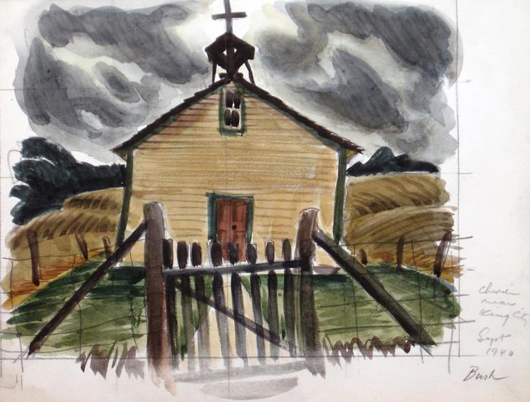 Church, Near King City, 1940 - Jack Bush