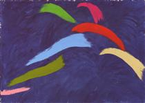 Leap On Blue - Jack Bush