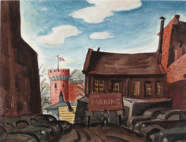 Parking Lot, 1941 - Jack Bush