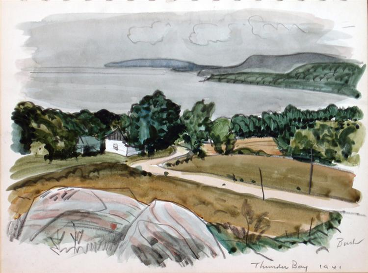 View of Lake Superior, Near Thunder Bay, 1941 - Jack Bush