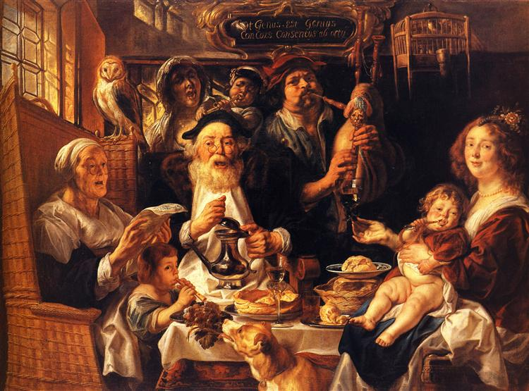 As the Old Sang, So the young Pipe - Jacob Jordaens