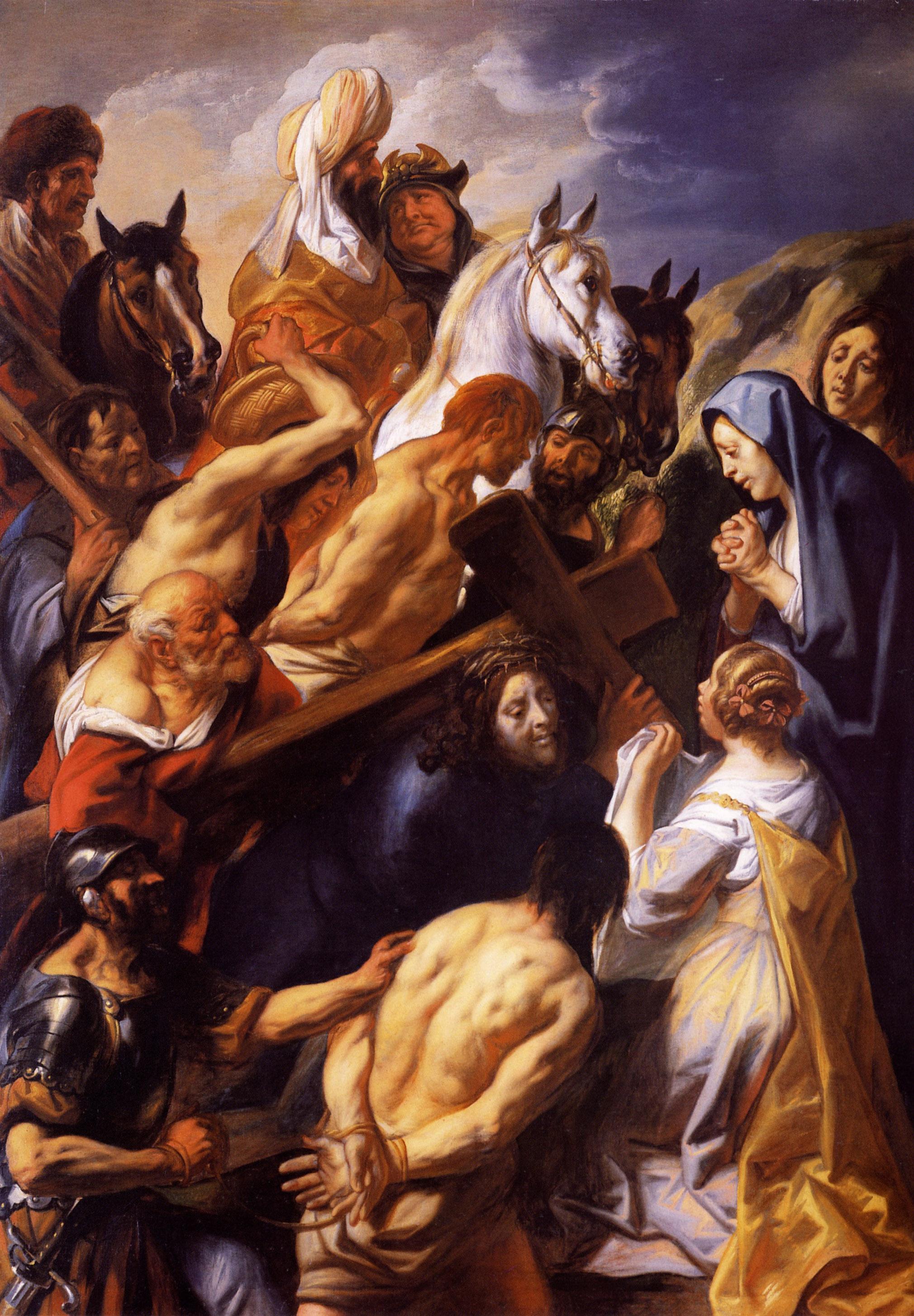 Christ Carrying the Cross - Jacob Jordaens - WikiArt.org ...