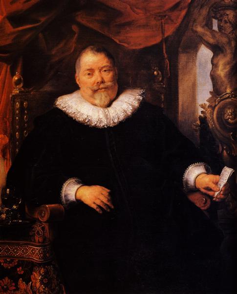 Portrait of Johan Wierts - Jacob Jordaens