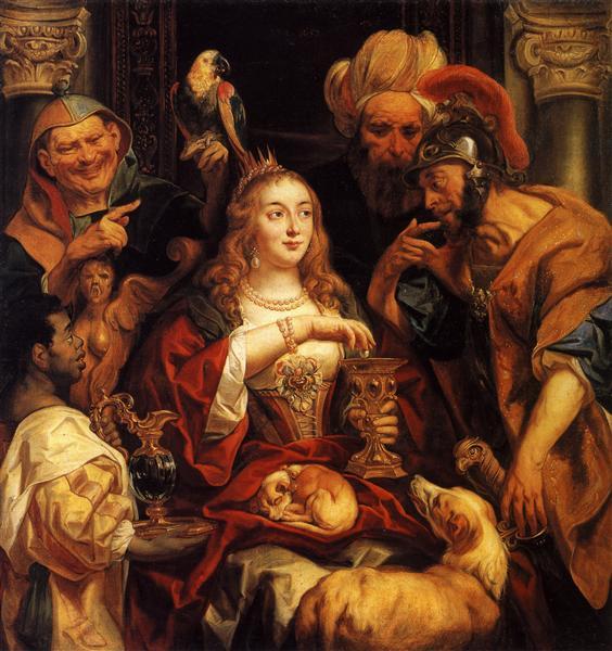 The Banquet of Cleopatra, 1653 - Jacob Jordaens