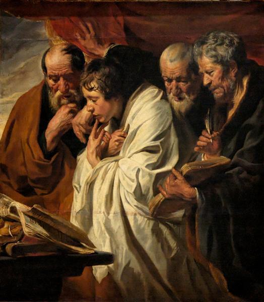The Four Evangelists, c.1625 - Jacob Jordaens