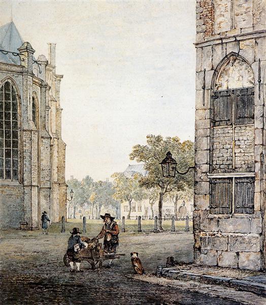 Grotekerksplein in Dordrecht - Jacob van Strij