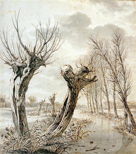 Landscape in winter - Jacob van Strij