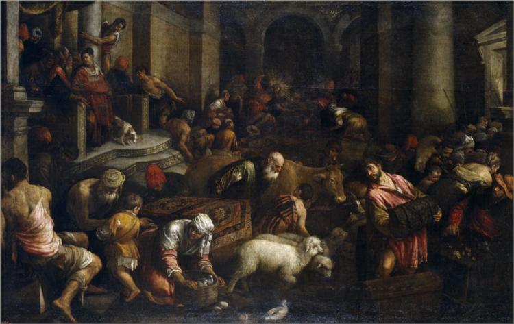 Expulsion of the Merchants from the Temple - Jacopo Bassano