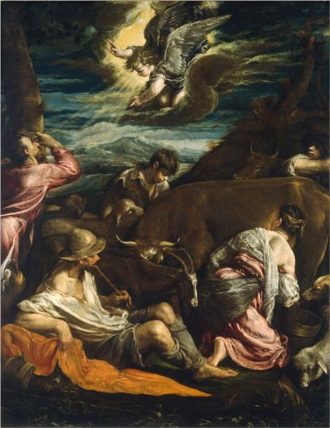 The Annunciation to the Shepherds, 1555 - 1560 - Jacopo Bassano