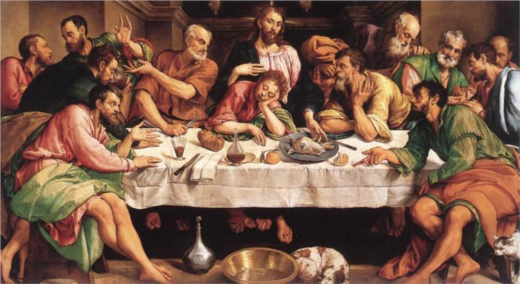 The Last Supper, c.1546 - Якопо Бассано