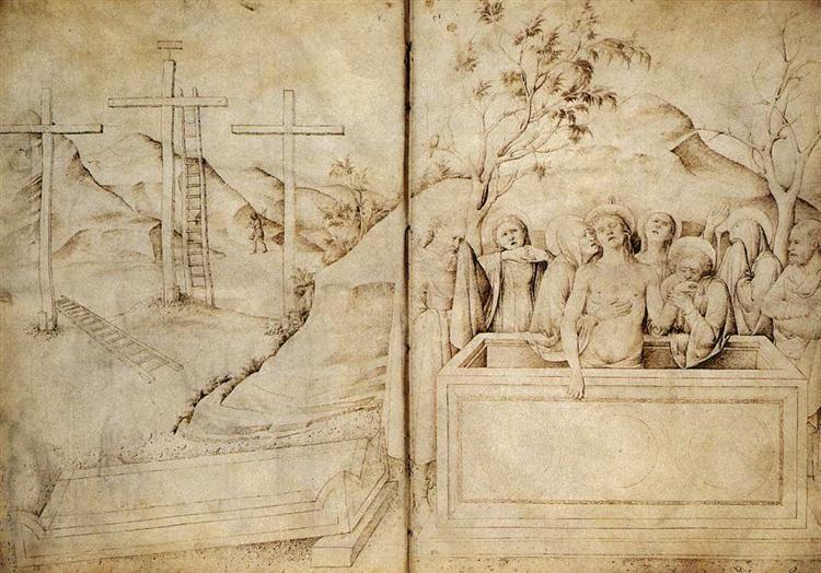 Lamentation, c.1441 - c.1450 - Jacopo Bellini