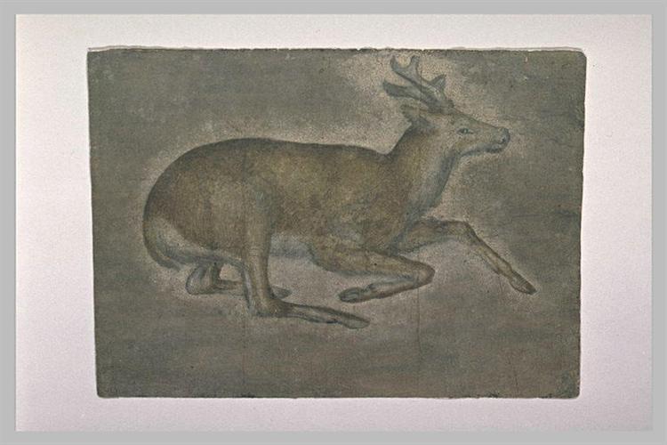 Sketch of young deer - Jacopo Bellini
