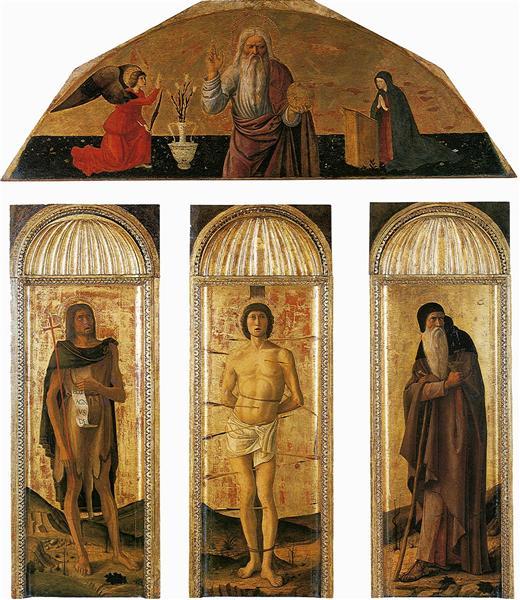 Triptych of St. Sebastian - Jacopo Bellini