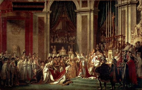 The Consecration of the Emperor Napoleon and the Coronation of the Empress Josephine by Pope Pius VII, 2nd December 1804 - Jacques-Louis David