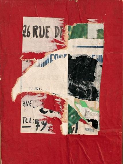 26 rue Delambre, 1965 - Jacques Villeglé
