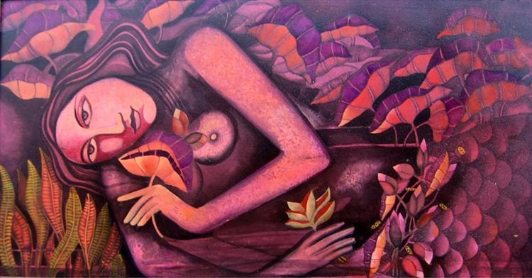 Mermaid in Lotus Pond IV, 2008 - Jahar Dasgupta