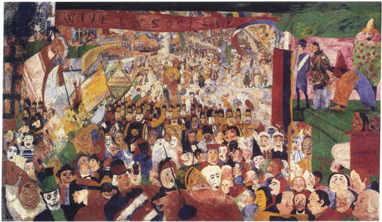 Christ's Entry Into Brussels in 1889, 1888 - James Ensor
