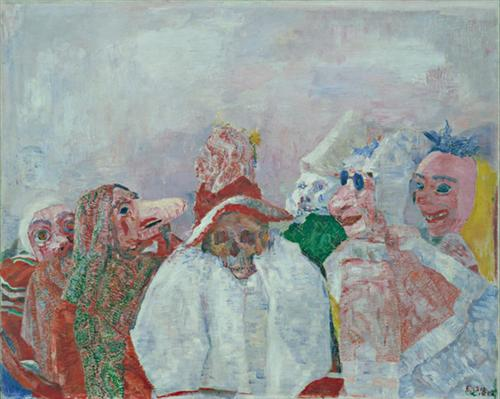 Masks Mocking Death - James Ensor
