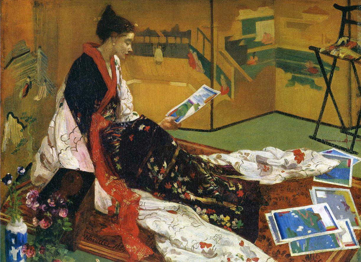 Whistler S Japanese Style Painting