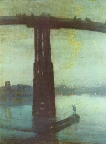 Nocturne: Blue and Gold – Old Battersea Bridge, 1872 - 1875 - Джеймс Вістлер