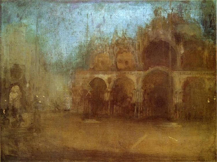 Nocturne: Blue and Gold - St Mark's, Venice, 1880 - James McNeill Whistler