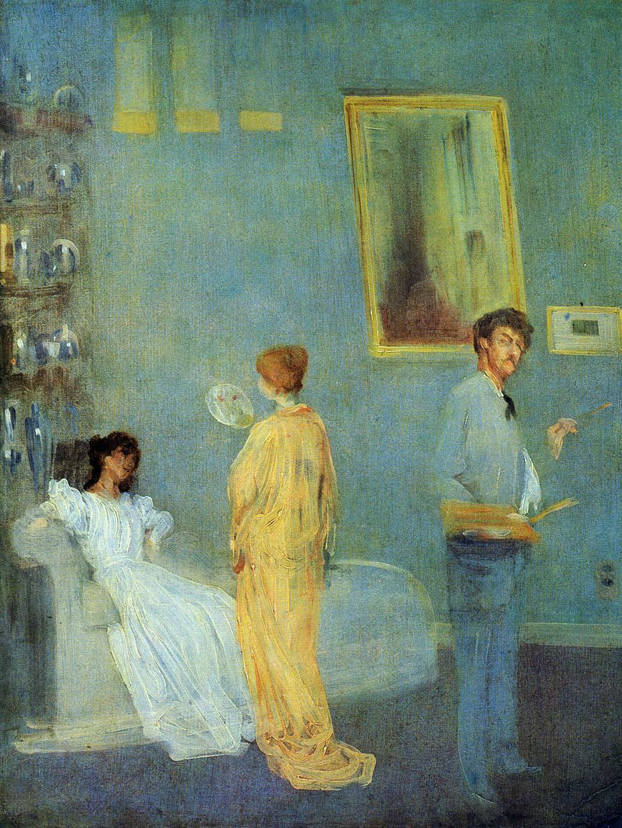 whistler in his studio c 1865   james mcneill whistler