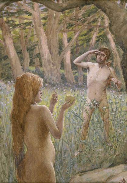 Adam Is Tempted by Eve - Джеймс Тиссо