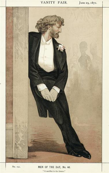 Caricature of Frederic Leighton, 1872 - James Tissot