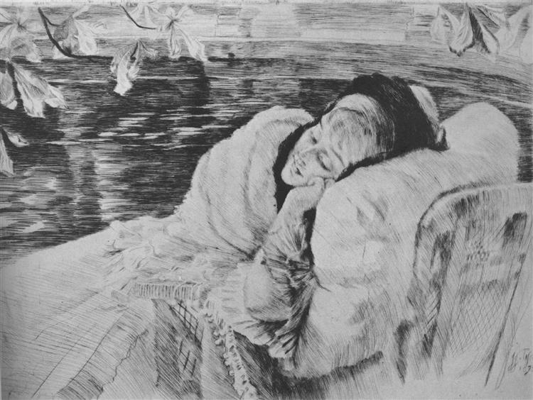 Convalescence, 1875 - James Tissot