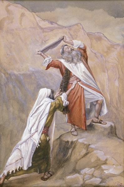 Moses Destroys the Tables of the Ten Commandments, c.1896 - c.1902 - James Tissot