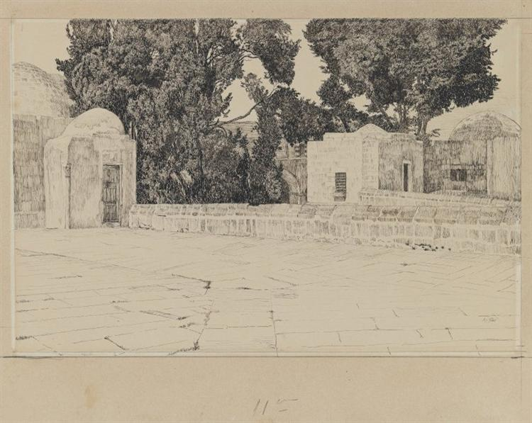 Rear of the Mosque of Omar, 1886 - 1889 - James Tissot