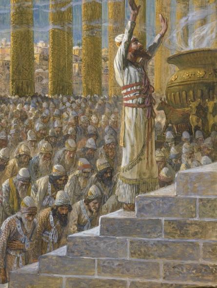 Solomon Dedicates the Temple at Jerusalem, c.1896 - c.1902 - James Tissot