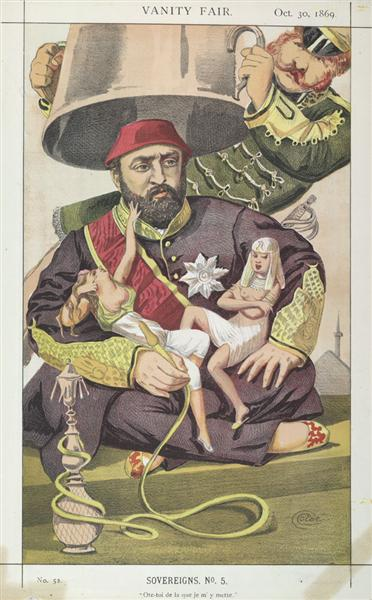 Sovereigns No.50 Caricature of Sultan Abdul Aziz of Turkey - James Tissot