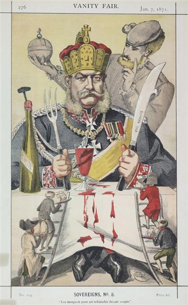 Sovereigns No.80 Caricature of The King of Prussi - James Tissot