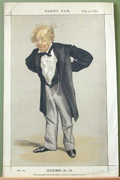 Statesmen No.1230 Caricature of The Rt Hon CP Villiers M.P. - James Tissot
