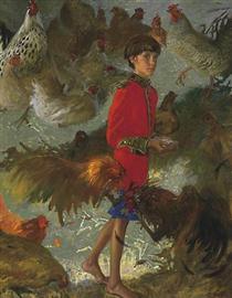Emperor of Chickens - Jamie Wyeth