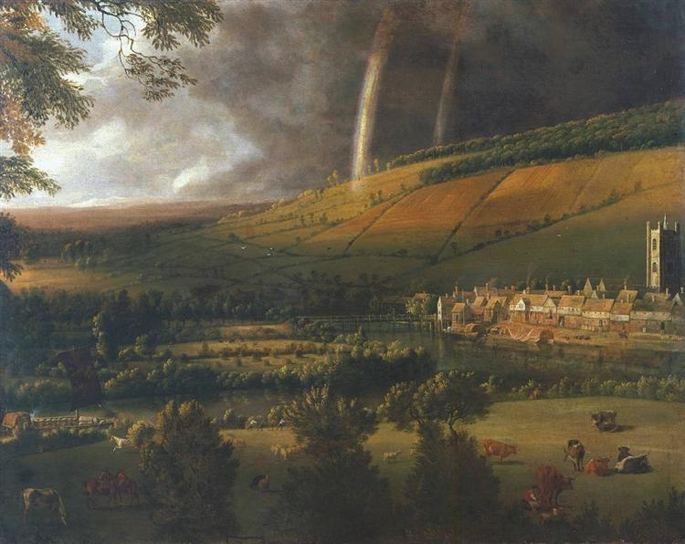 Landscape with Rainbow, Henley on Thames, 1690 - Jan Siberechts