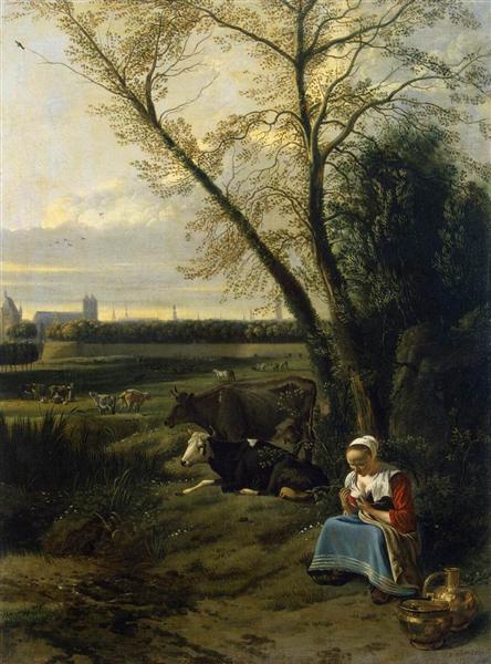 Shepherdess, c.1660 - Jan Siberechts