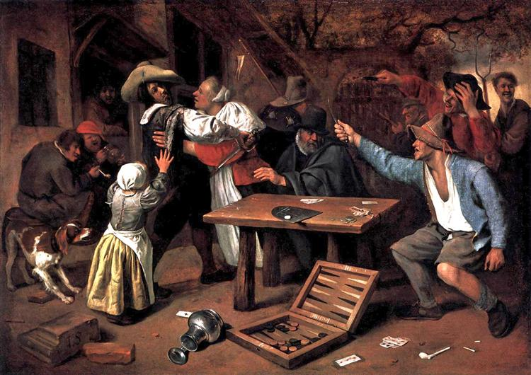 Argument over a Card Game - Jan Steen
