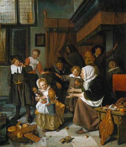 Свято святого Миколая, c.1660 - 1665 - Ян Стен