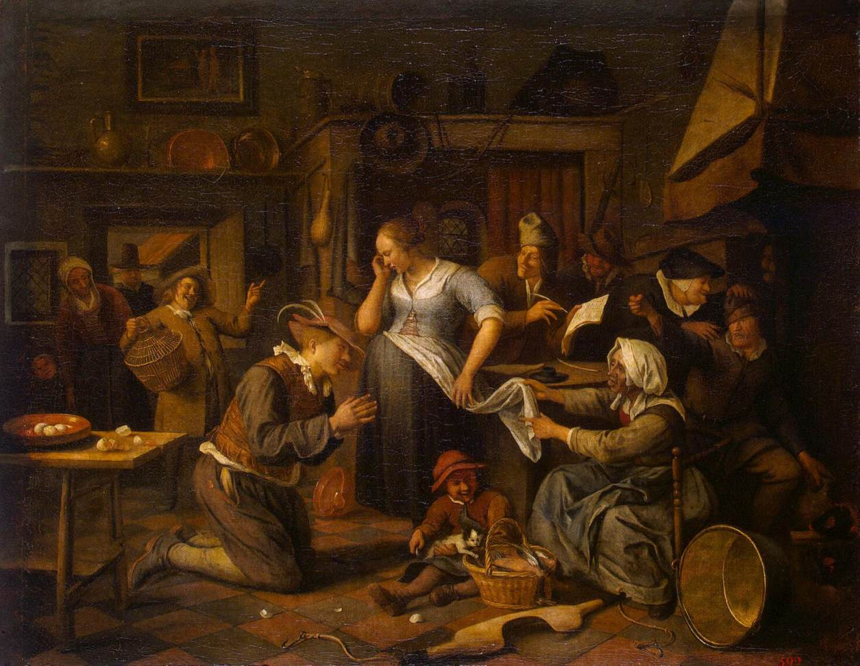Marriage contract jan steen for Artist mural contract