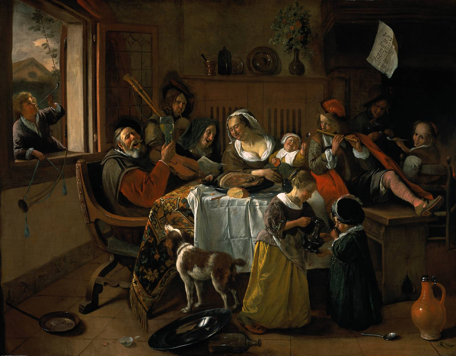 Merry Family, Jan Steen, 1688