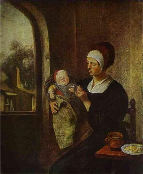 Mother and Child - Jan Steen