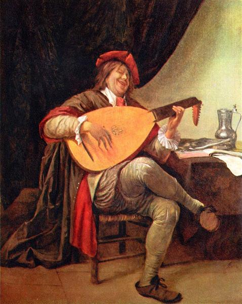 Self-portrait with a lute, c.1663 - c.1665 - Jan Steen