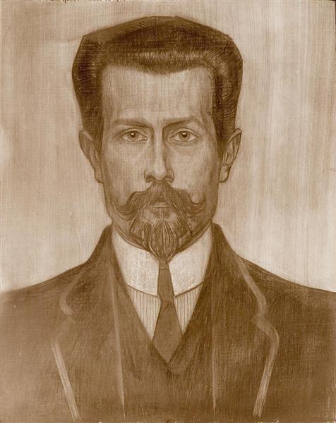 Portrait of Theo Neuhuys, c.1919 - Jan Toorop