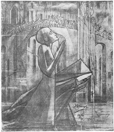 Prayer at the Road to Calvary, 1916 - Jan Toorop