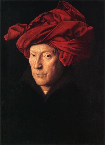 Portrait of a Man (Man in a Turban), 1433 - Jan van Eyck